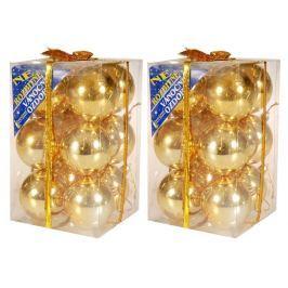 EVERGREEN Koule lesklé 2x 6 ks zlatá Doplňky a dekorace