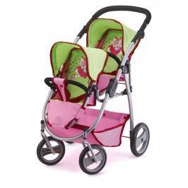 BAYERDESIGN Kočárek pro panenky Twin Jogger růžová/z Pro holky