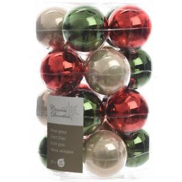 KAEMINGK Vánoční ozdoby koule 20ks červená/zelená