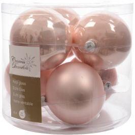 KAEMINGK Vánoční ozdoby koule 6 ks, růžová