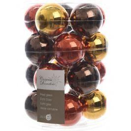 KAEMINGK Vánoční ozdoby koule 20ks hnědá/zlatá Doplňky a dekorace