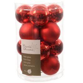 Skleněné Mini Koule Kaemingk mix, červené Doplňky a dekorace