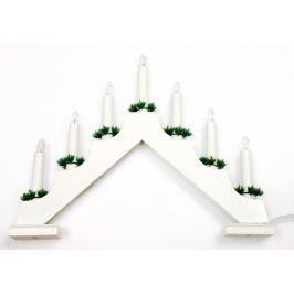 SEIZIS El. svícen stříška 7 žárovek, bílý Doplňky a dekorace