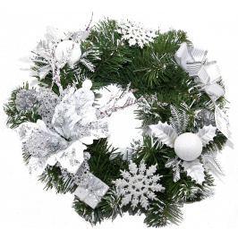 Vánoční věnec Seizis, 30 cm, bílý