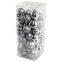 SEIZIS Set vánočních koulí stříbrné Doplňky a dekorace