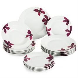 BANQUET Sada talířů Purple, 18 ks