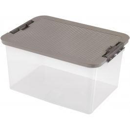 HEIDRUN Box s ratanovým víkem 38 l, hnědá