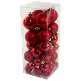 SEIZIS Set vánočních koulí červené 40 ks Doplňky a dekorace