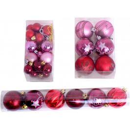 SEIZIS Vánoční koule 32 ks, červená/růžová