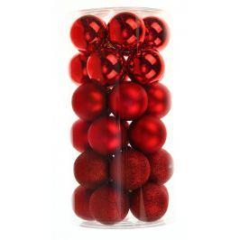 SEIZIS Set plastových koulí 30ks, mix červené