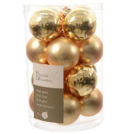 KAEMINGK mix Mini Koule skleněné zlaté 16 ks