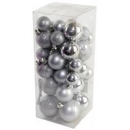 SEIZIS Set vánočních koulí stříbrné 40 ks