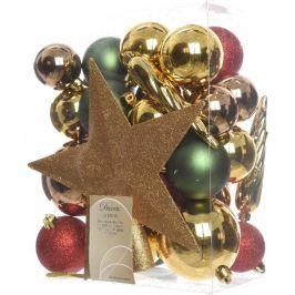 Vánoční balení ozdob Kaeming se špičkou, Grand Kaffe, 33ks
