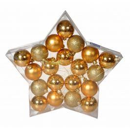 EVERGREEN Koule Star 20 ks, zlaté