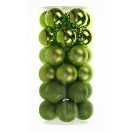 SEIZIS Set plastových koulí 30ks, mix zelené Doplňky a dekorace