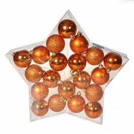 EVERGREEN Koule Star box 20 ks, měděné Doplňky a dekorace