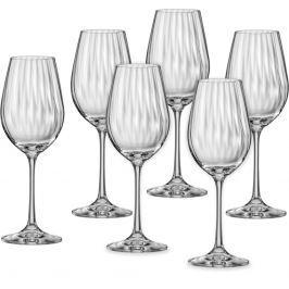 CRYSTALEX sklenice na víno Waterfall 350 ml, 6 ks
