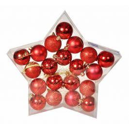 EVERGREEN Sada koulí Star červená, 20 ks