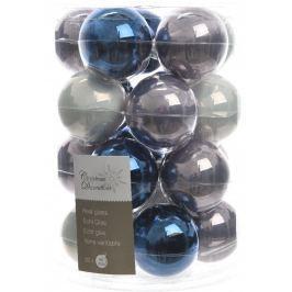 KAEMINGK Vánoční ozdoby koule 20 ks modrá/šedá