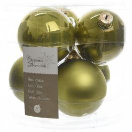 KAEMINGK Vánoční ozdoby koule 6 ks, olivová Doplňky a dekorace