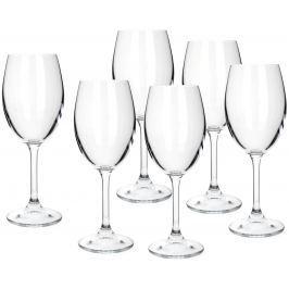 BANQUET sklenice na bílé víno Leona 340 ml, 6 ks Jídelní soupravy a nože