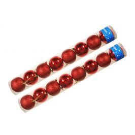 EVERGREEN Koule lesklé a glitter 2x 8 ks červená