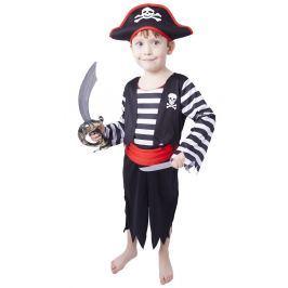 RAPPA Kostým pirát s čepicí XS Dětské doplňky