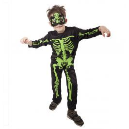 RAPPA karnevalový kostým kostlivec NEON M
