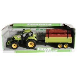 MACTOYS Traktor s valníkem zelený