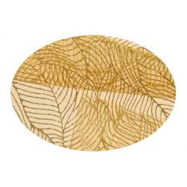 EVERGREEN Dekorační organza lístky zlatá 2 x 1,5 m