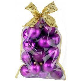SEIZIS Set koulí s dekorem v sáčku fialové 20