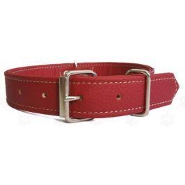 ARGI Obojek pro psa kožený červený vel. M
