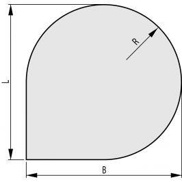 HAASSOHN Sklo pod kamna 1000x1000, forma F