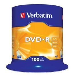 VERBATIM DVD-R 4,7GB 16x spindl 100pck/BAL