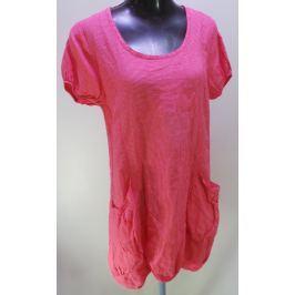Dámské šaty Pretty Lin s krátkým rukávem, růžové