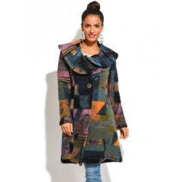 Dámský kabát Eva Tralala Manteau Tiarelle Imprime Vert 2