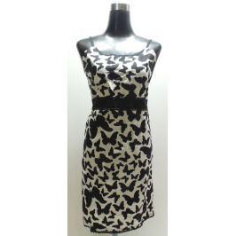 Dámské šaty Admas, s motýlky, černo-bílé