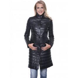 Dámský kožený kabát Giorgio Di Mare, černý