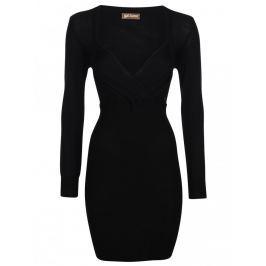 Dámské vlněné šaty Galliano, černé