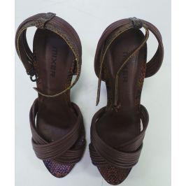 Dámské páskové sandálky Mixer, hnědé