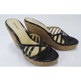 Dámské pantofle na klínku Mixer, černé