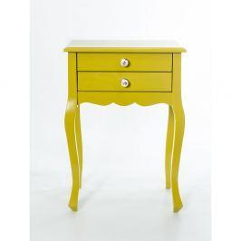 Woodenbend Odkládací stolek Nora Yellow, 52x35x72 cm