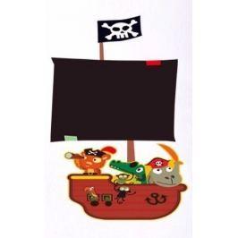 Ambiance Dětská nástěnná tabule se samolepkou Pirátská loď