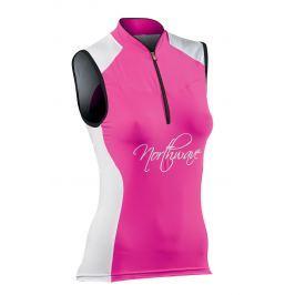 Dámský cyklistický dres Northwave Venus Sleeveless, růžový