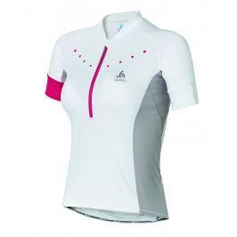 Odlo Wm s Cycling T-Shirt Gavia White, 40, bílá