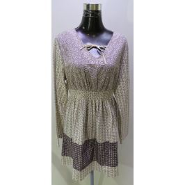 Dámská bavlněná tunika Boysen´s, hnědý vzor