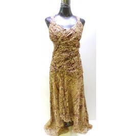 Dámské dlouhé šaty Kaleidoscope, hnědožluté