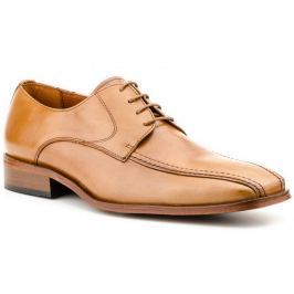 Pánská kožená obuv Carlo Garelli, hnědá