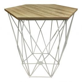 Bílý odkládací stolek s úložným prostorem HouseVitamin® Gem