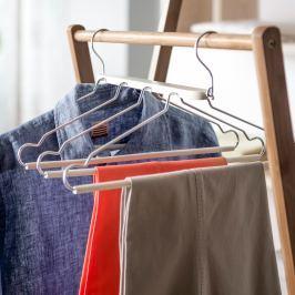 Dělené dřevěné ramínko na oblečení Compactor